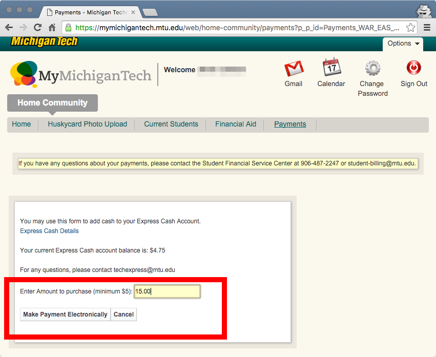 """Example screen showing """"Enter amount to purchase"""""""