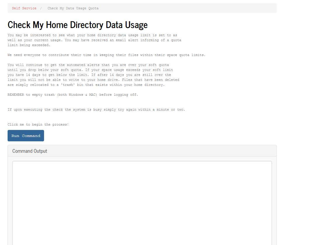 Check Home Directory usage