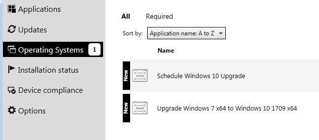 Select Schedule Windows upgrade